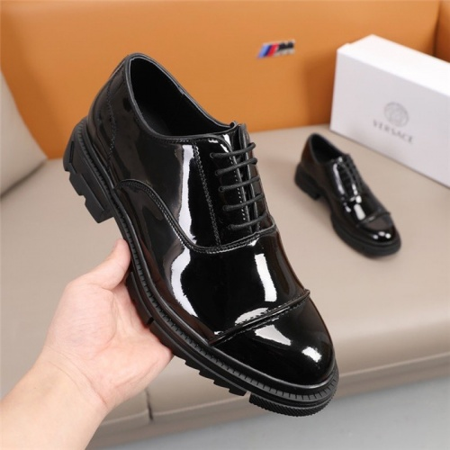 Replica Versace Leather Shoes For Men #847762 $92.00 USD for Wholesale