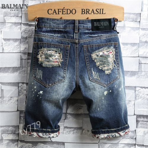Replica Balmain Jeans For Men #847782 $40.00 USD for Wholesale