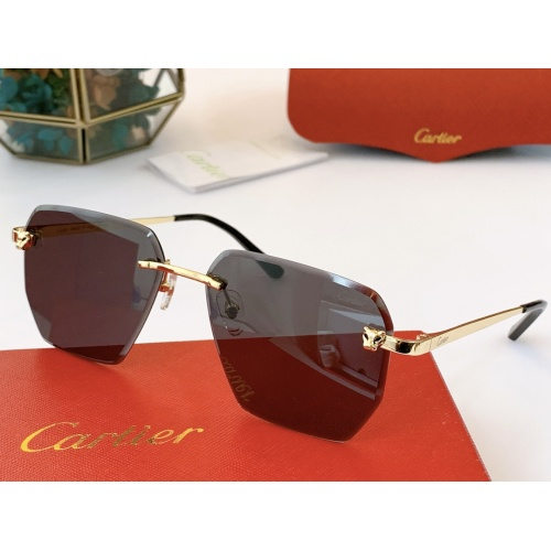 Cartier AAA Quality Sunglasses #847893