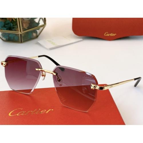Cartier AAA Quality Sunglasses #847895