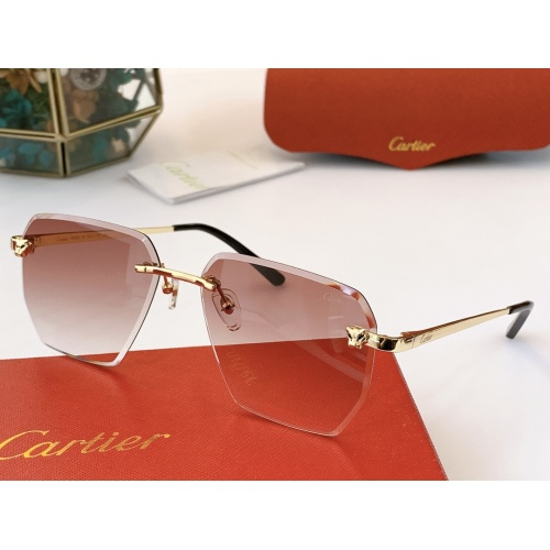 Cartier AAA Quality Sunglasses #847897