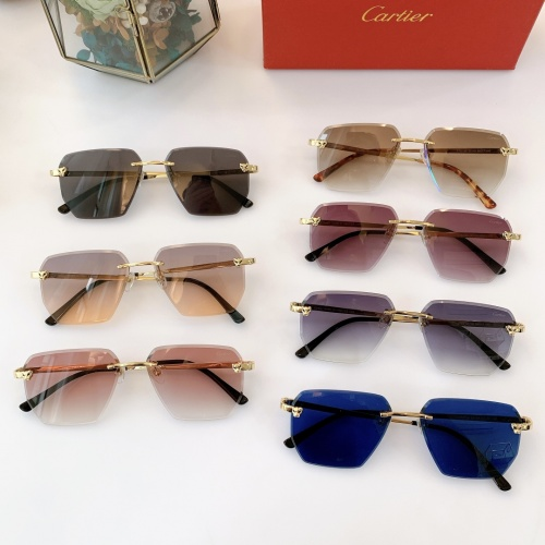 Replica Cartier AAA Quality Sunglasses #847899 $44.00 USD for Wholesale