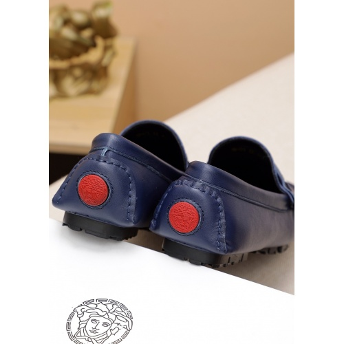 Replica Versace Leather Shoes For Men #848128 $68.00 USD for Wholesale