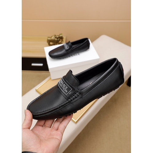 Versace Leather Shoes For Men #848129 $68.00 USD, Wholesale Replica Versace Leather Shoes
