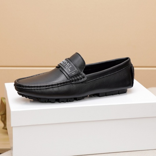 Replica Versace Leather Shoes For Men #848129 $68.00 USD for Wholesale