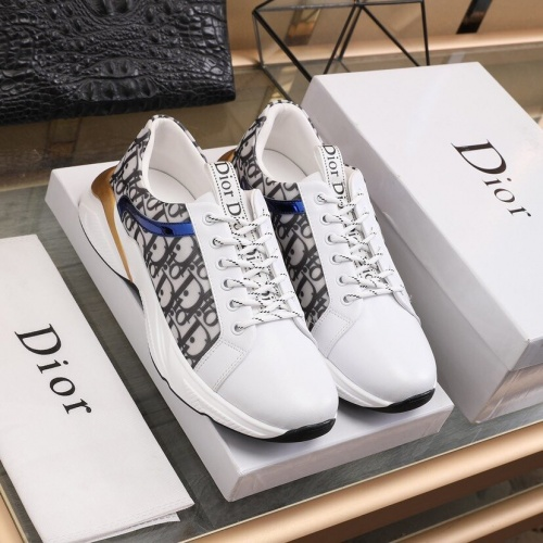Replica Christian Dior Casual Shoes For Men #848221 $88.00 USD for Wholesale