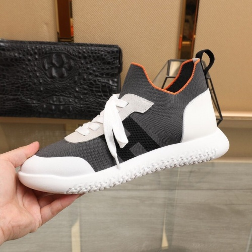 Replica Hermes Casual Shoes For Men #849706 $88.00 USD for Wholesale