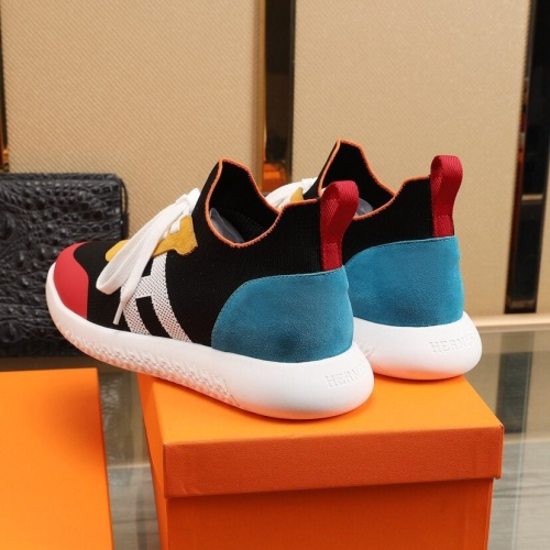 Replica Hermes Casual Shoes For Men #849707 $88.00 USD for Wholesale