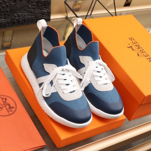 Replica Hermes Casual Shoes For Men #849709 $88.00 USD for Wholesale