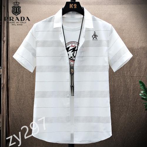 Prada Shirts Short Sleeved For Men #849791
