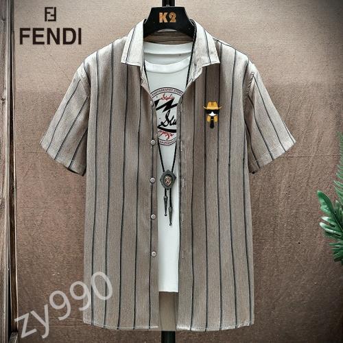 Fendi Shirts Short Sleeved For Men #849798