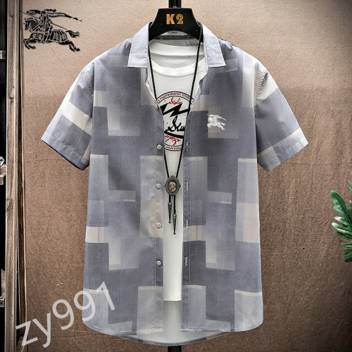 Burberry Shirts Short Sleeved For Men #849800 $34.00 USD, Wholesale Replica Burberry Shirts