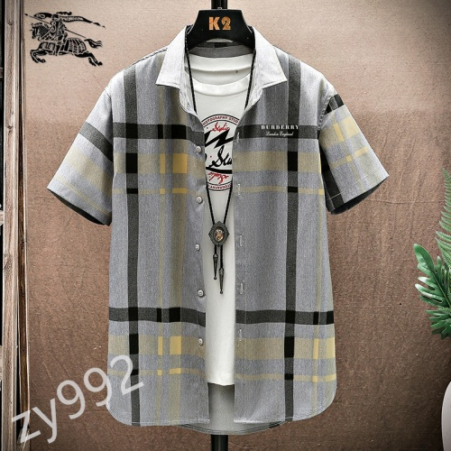 Burberry Shirts Short Sleeved For Men #849801 $34.00 USD, Wholesale Replica Burberry Shirts