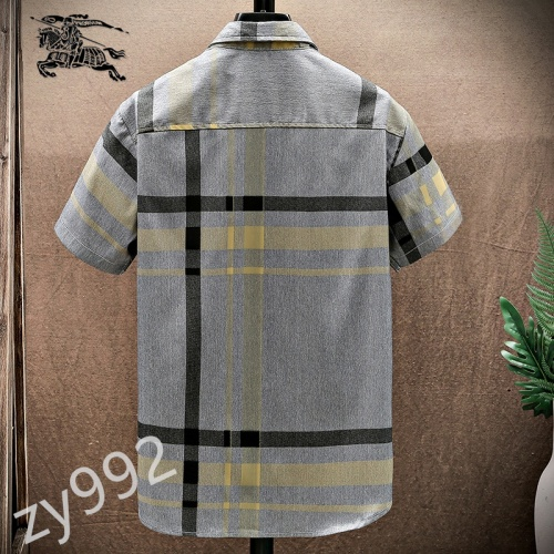 Replica Burberry Shirts Short Sleeved For Men #849801 $34.00 USD for Wholesale