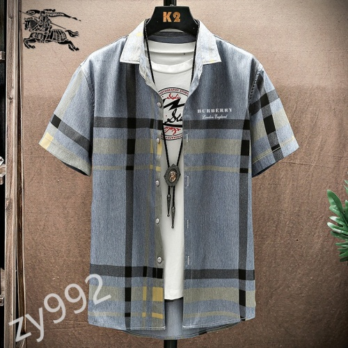 Burberry Shirts Short Sleeved For Men #849802 $34.00 USD, Wholesale Replica Burberry Shirts
