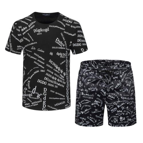 Dolce & Gabbana D&G Tracksuits Short Sleeved For Men #850009