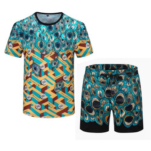 Dolce & Gabbana D&G Tracksuits Short Sleeved For Men #850036