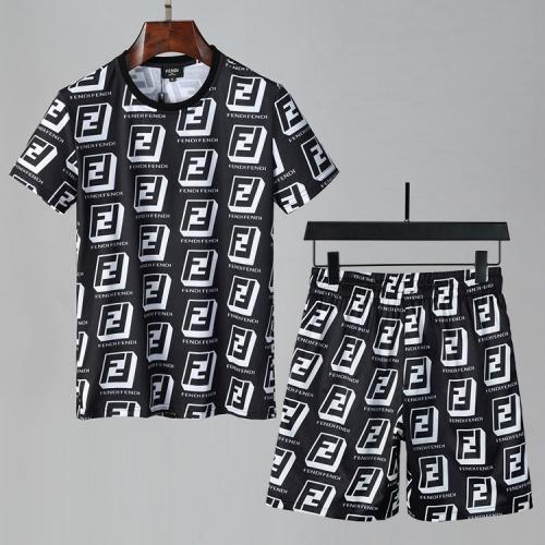 Fendi Tracksuits Short Sleeved For Men #850046