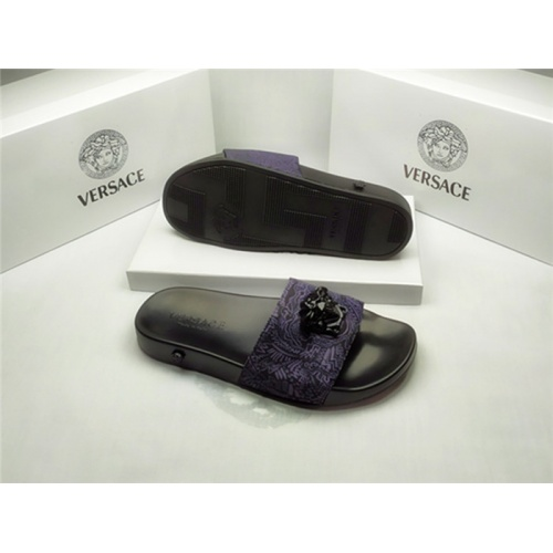 Replica Versace Slippers For Men #850109 $40.00 USD for Wholesale