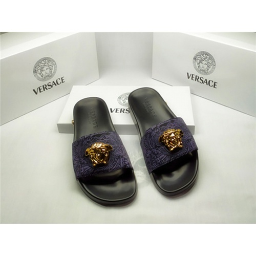 Versace Slippers For Men #850110 $40.00 USD, Wholesale Replica Versace Slippers