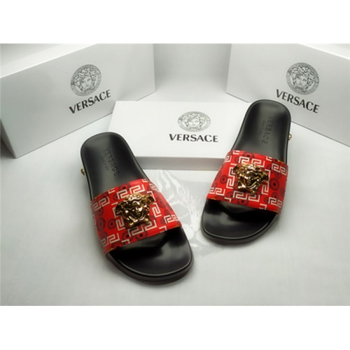 Replica Versace Slippers For Men #850111 $40.00 USD for Wholesale