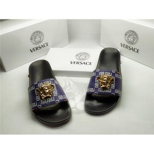 Replica Versace Slippers For Men #850112 $40.00 USD for Wholesale