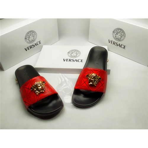 Replica Versace Slippers For Men #850113 $40.00 USD for Wholesale