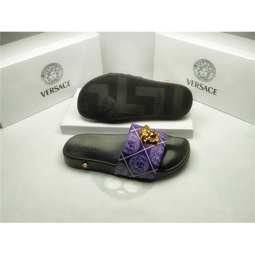 Replica Versace Slippers For Men #850114 $40.00 USD for Wholesale