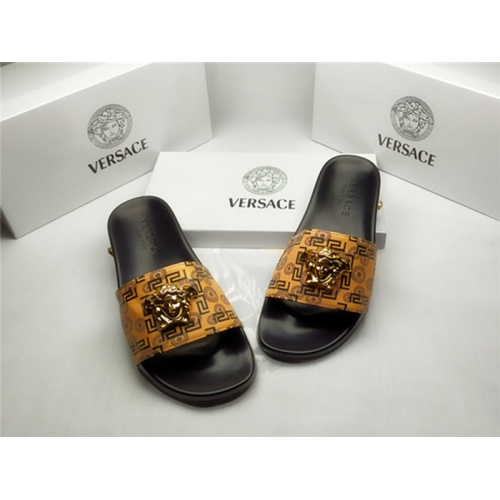 Replica Versace Slippers For Men #850115 $40.00 USD for Wholesale