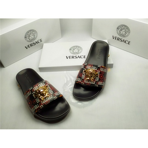 Replica Versace Slippers For Men #850116 $40.00 USD for Wholesale
