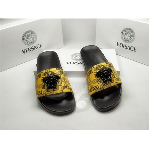 Versace Slippers For Men #850117 $40.00 USD, Wholesale Replica Versace Slippers