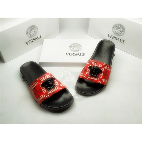 Replica Versace Slippers For Men #850118 $40.00 USD for Wholesale