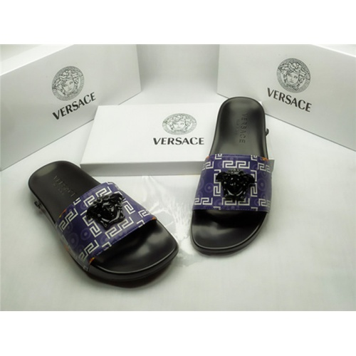 Replica Versace Slippers For Men #850119 $40.00 USD for Wholesale