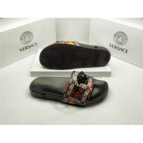 Replica Versace Slippers For Men #850120 $40.00 USD for Wholesale