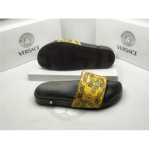 Replica Versace Slippers For Men #850121 $40.00 USD for Wholesale