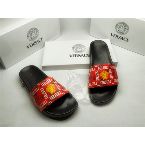 Replica Versace Slippers For Men #850122 $40.00 USD for Wholesale