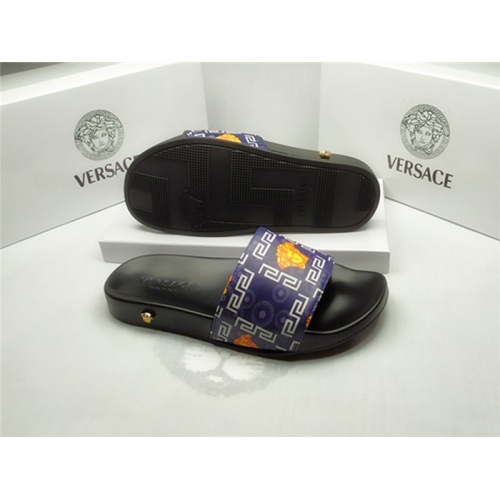 Replica Versace Slippers For Men #850124 $40.00 USD for Wholesale