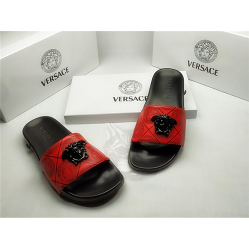 Replica Versace Slippers For Men #850126 $40.00 USD for Wholesale