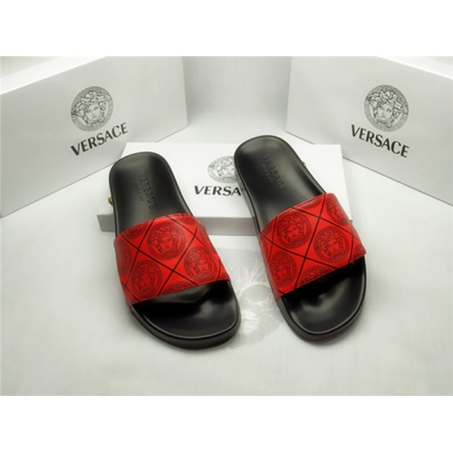 Versace Slippers For Men #850127 $40.00 USD, Wholesale Replica Versace Slippers
