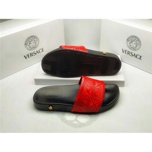Replica Versace Slippers For Men #850127 $40.00 USD for Wholesale