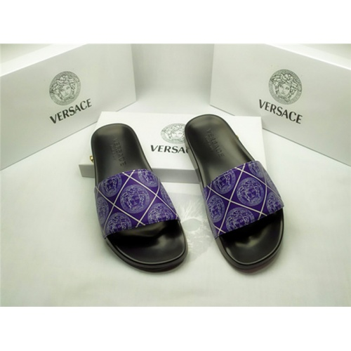 Versace Slippers For Men #850129 $40.00 USD, Wholesale Replica Versace Slippers