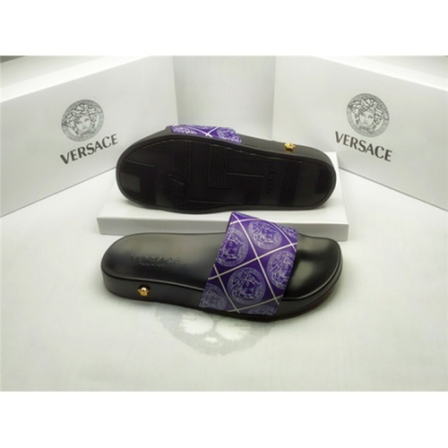 Replica Versace Slippers For Men #850129 $40.00 USD for Wholesale