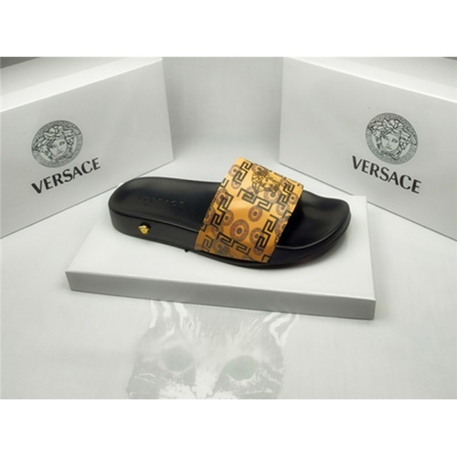 Replica Versace Slippers For Men #850130 $40.00 USD for Wholesale