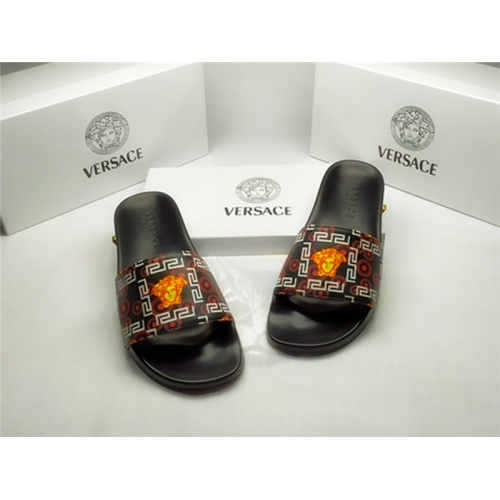 Replica Versace Slippers For Men #850131 $40.00 USD for Wholesale