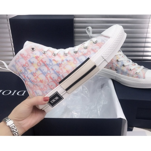 Replica Christian Dior High Tops Shoes For Women #850219 $93.00 USD for Wholesale