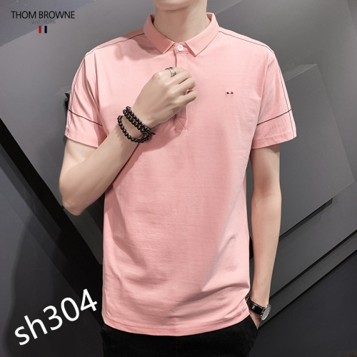 Replica Thom Browne TB T-Shirts Short Sleeved For Men #850620 $29.00 USD for Wholesale