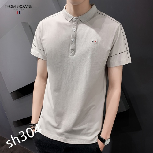 Thom Browne TB T-Shirts Short Sleeved For Men #850621 $29.00 USD, Wholesale Replica Thom Browne TB T-Shirts