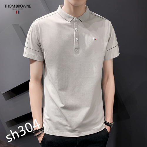 Replica Thom Browne TB T-Shirts Short Sleeved For Men #850621 $29.00 USD for Wholesale