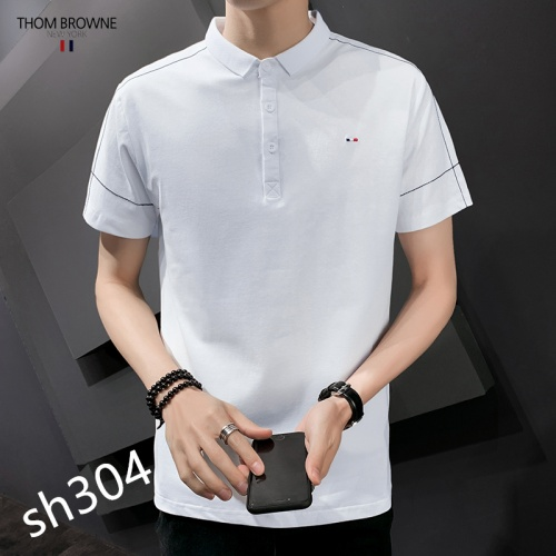 Replica Thom Browne TB T-Shirts Short Sleeved For Men #850622 $29.00 USD for Wholesale