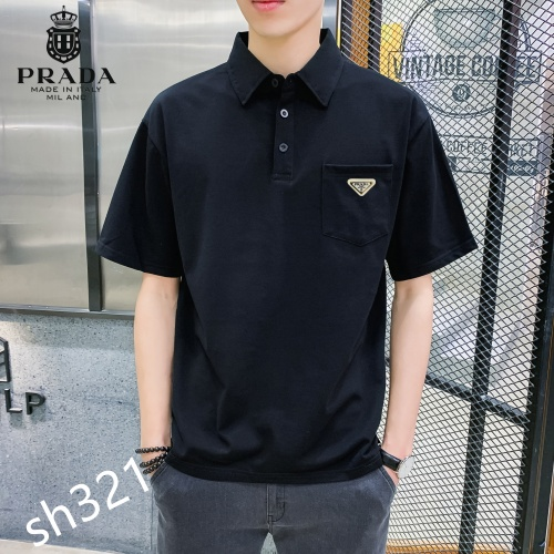 Prada T-Shirts Short Sleeved For Men #850642 $29.00 USD, Wholesale Replica Prada T-Shirts